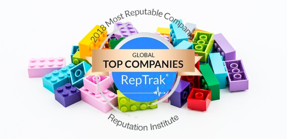 The LEGO Group Maintains 2018 RepTrak Rating