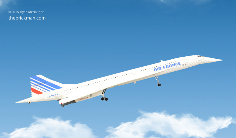 Custom LEGO Concorde