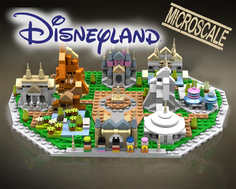 Micro-Scale LEGO Disneyland MOC