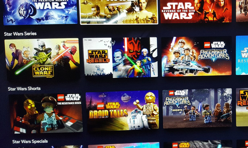 Disney+ Will Feature A Collection of LEGO Star Wars Animated Series