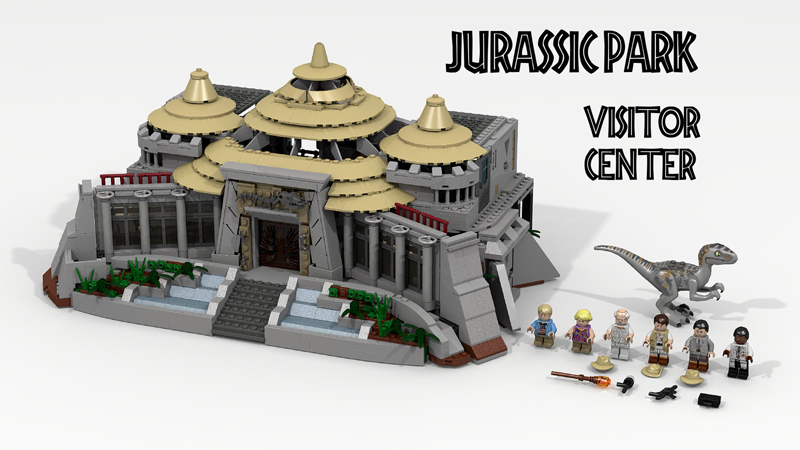 LEGO Ideas Project Jurassic Park Visitor Center Hits 10K Mark