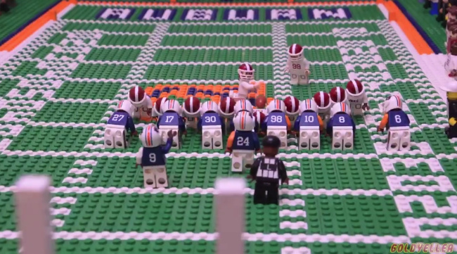 This LEGO Stop-Motion Animation Commemorates 2013's Iron Bowl Kick Six