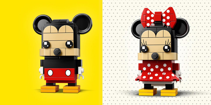 LEGO BrickHeadz Mickey Mouse (41624) and Minnie Mouse (41625)