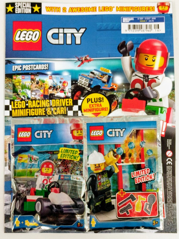 lego city magazine issue 7 now comes with two lego city. Black Bedroom Furniture Sets. Home Design Ideas