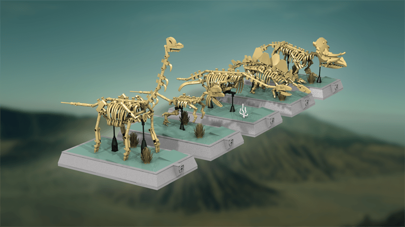 Dinosaurs Fossils Skeletons – Natural History Collection Qualifies for the 2018 LEGO Ideas Third Review Stage