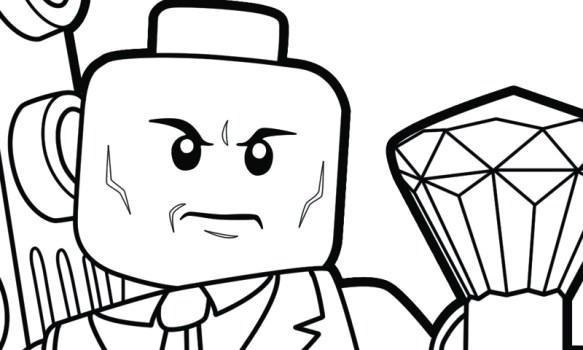 LEGO Lex Luthor Coloring Page