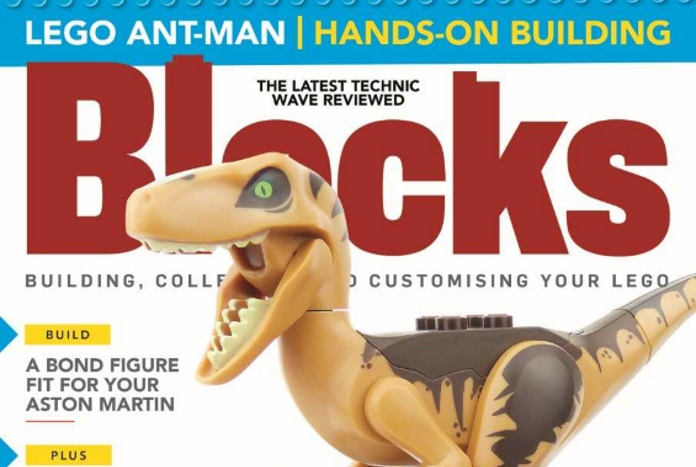 "LEGO Jurassic Park/World and Other Features Inside ""Blocks"" Magazine Issue 49"