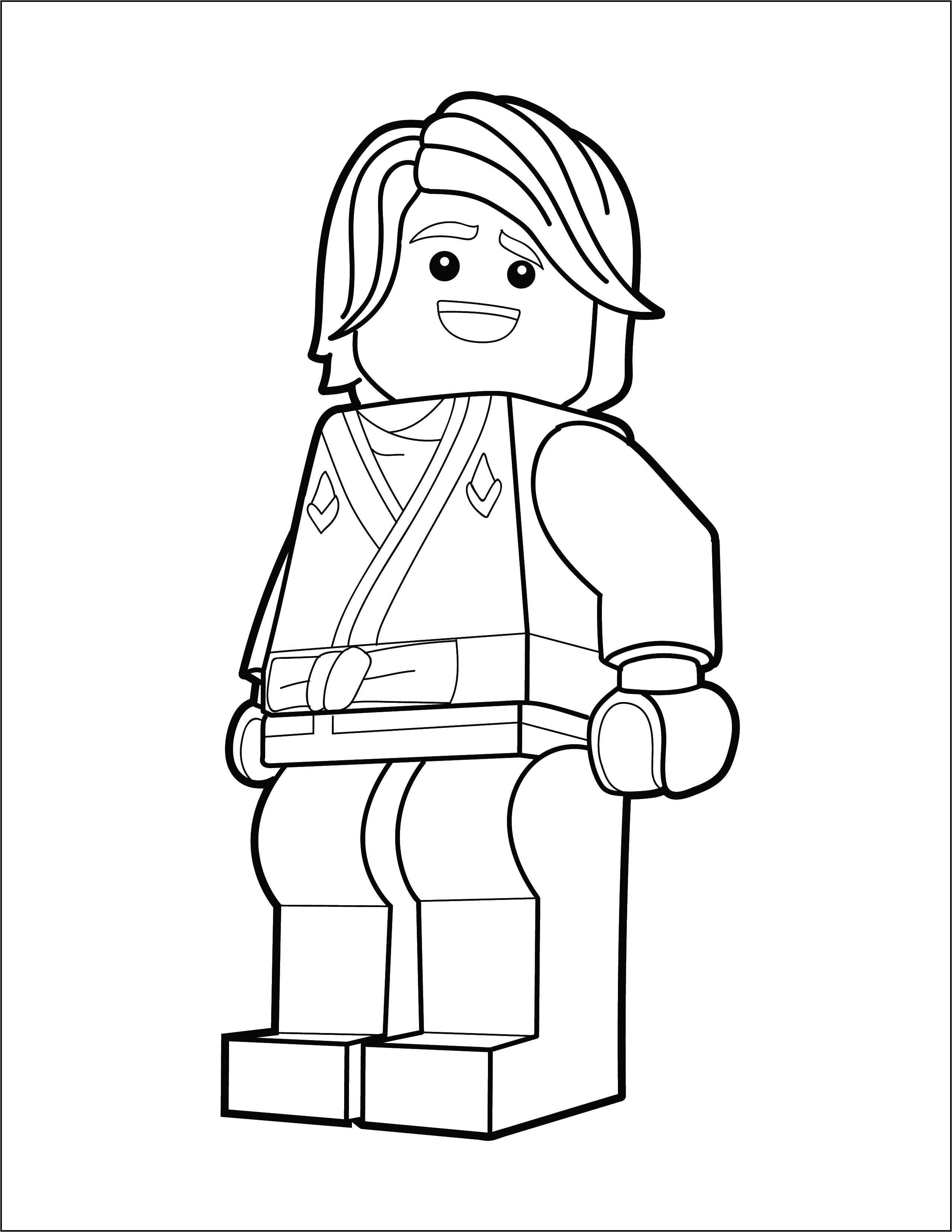 Lego Ninjago Coloring Page Lloyd The Brick Show
