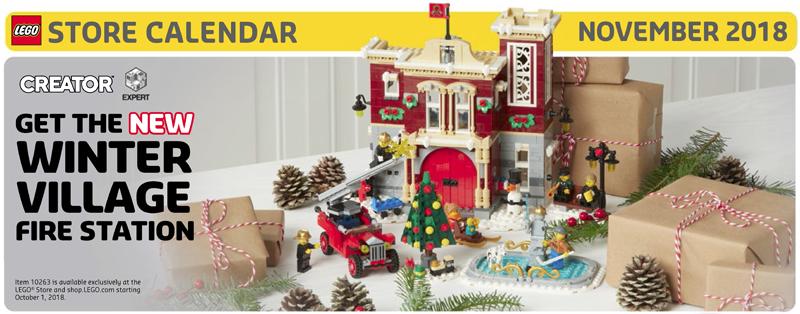 LEGO Store November 2018 Calendar Now Up