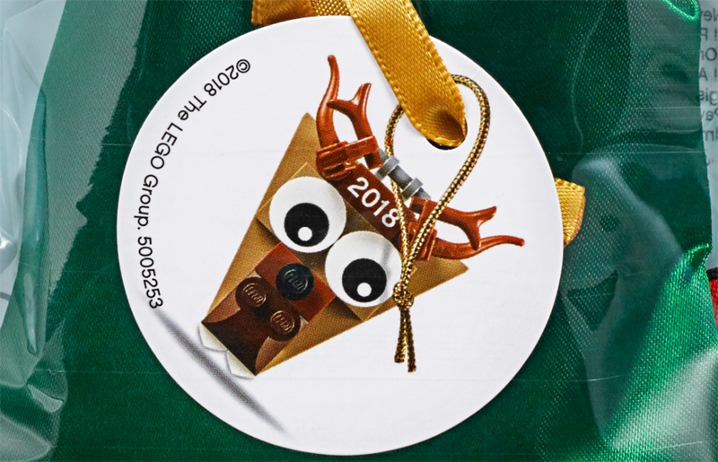 LEGO Christmas Ornament Reindeer Head (5005253) Polybag Revealed
