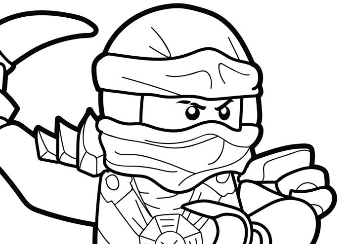 LEGO Ninjago Coloring Page – Jay