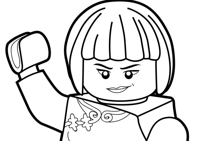 LEGO Ninjago Coloring Page – Nya