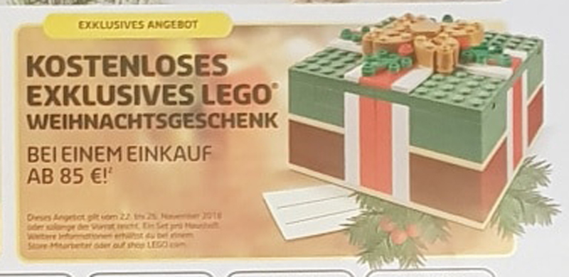 LEGO Store in Germany Confirms Christmas Gift (40292) Promotional Set