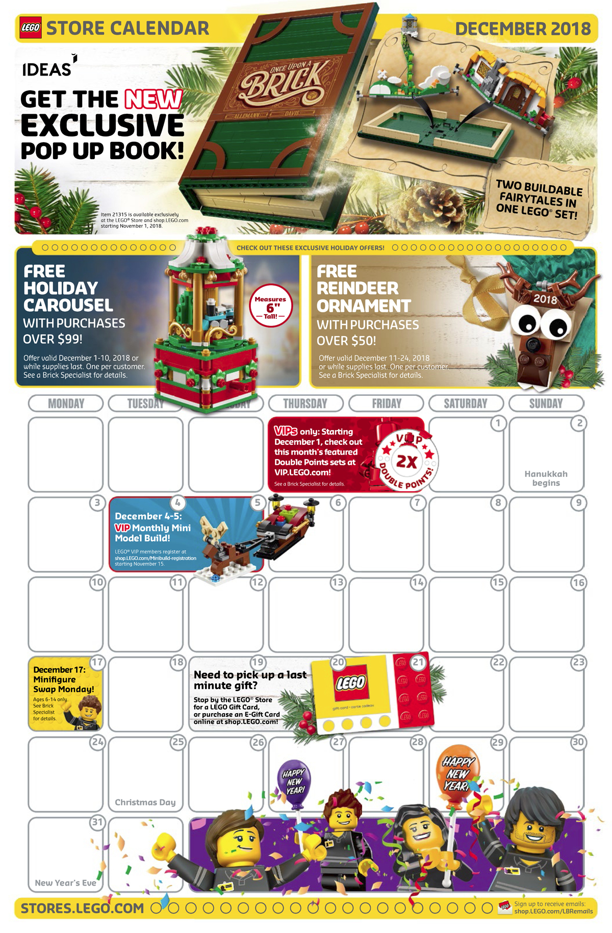 heres a rundown of what to expect from the lego store december 2018 calendar both online and in store my only minor complaint is that it still doesnt