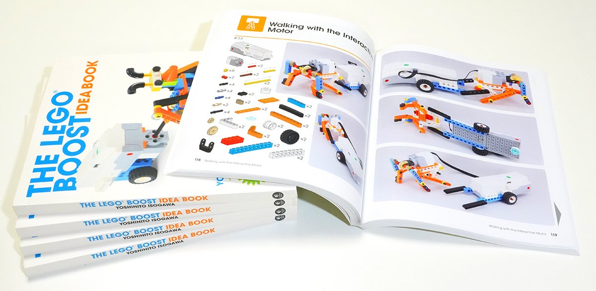 """Learn More Build Technics for Boost Line on """"The LEGO Boost Idea Book"""" from No Starch Press"""