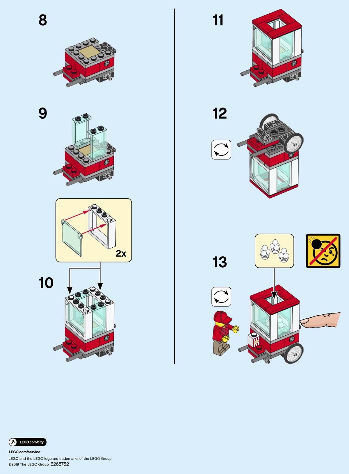 LEGO 2 x Figur Minifigur Bahnarbeiter Jacke orange trn001 aus 4512 4513 4514