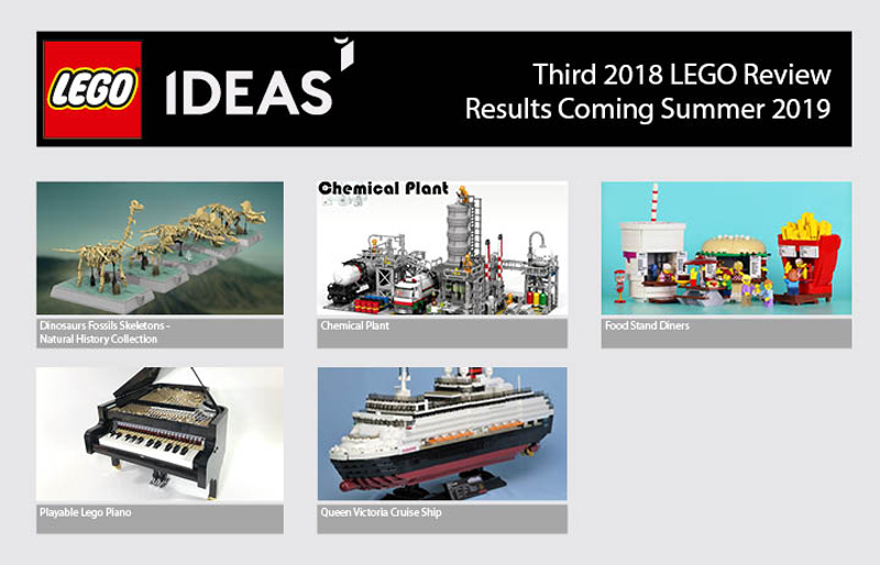 Here are The Five Product Ideas That Qualifies for The LEGO Ideas Third 2018 Review Stage