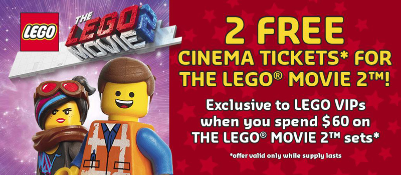 Free LEGO Movie 2 Tickets With Your Purchase of Any LEGO Movie 2 Sets