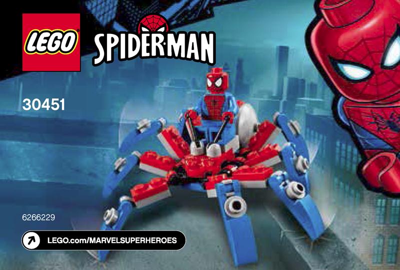 LEGO Spider-Man Spider Crawler Set 76114 avec 4 x Minifigures Authentique Marvel