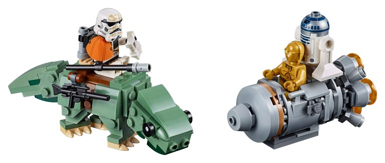 75228 Star Wars Escape Pod vs. Dewback™ Microfighters