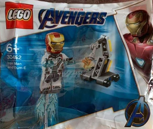 "Wal-Mart Carrying ""Avengers: Endgame"" Tie-In Polybag – Iron Man and Dum-E (30452)"