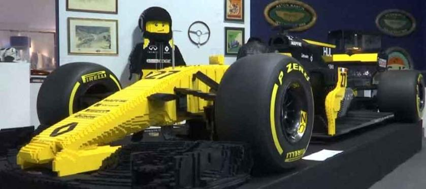 2017 Built Lego Renault F1 Racecar Sold At Charity Auction For 105 000 The Brick Show