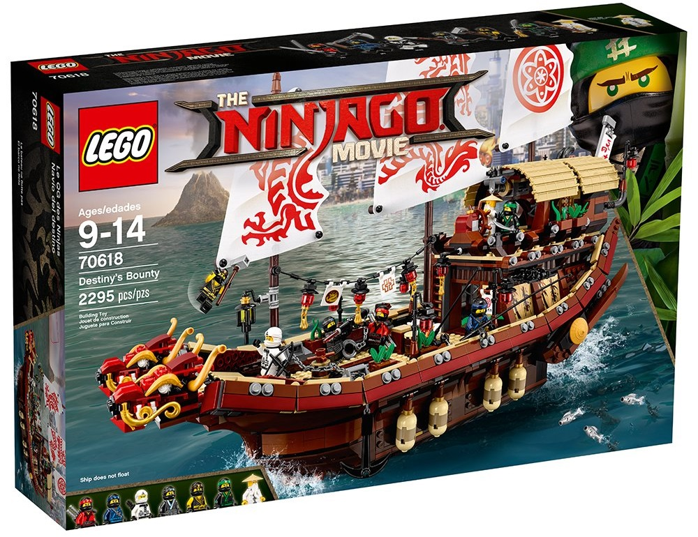 Sweet Discount Sale Ongoing for LEGO Ninjago Movie Tie-in, the Destiny's Bounty (70618) on Amazon and Wal-Mart