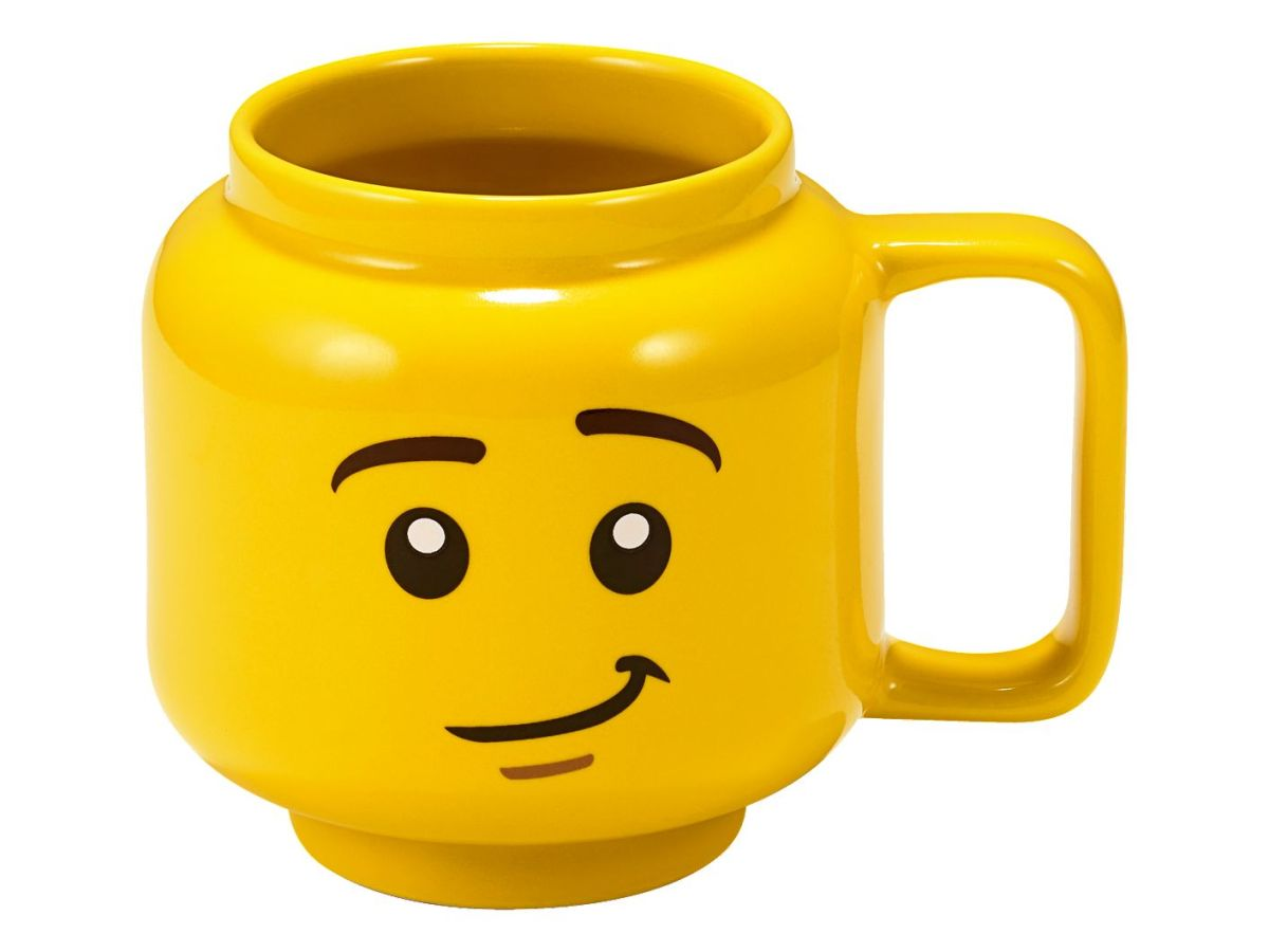 Now Available: LEGO Minifigure Ceramic Cup (853910), Great for Drinking at Table or While Building