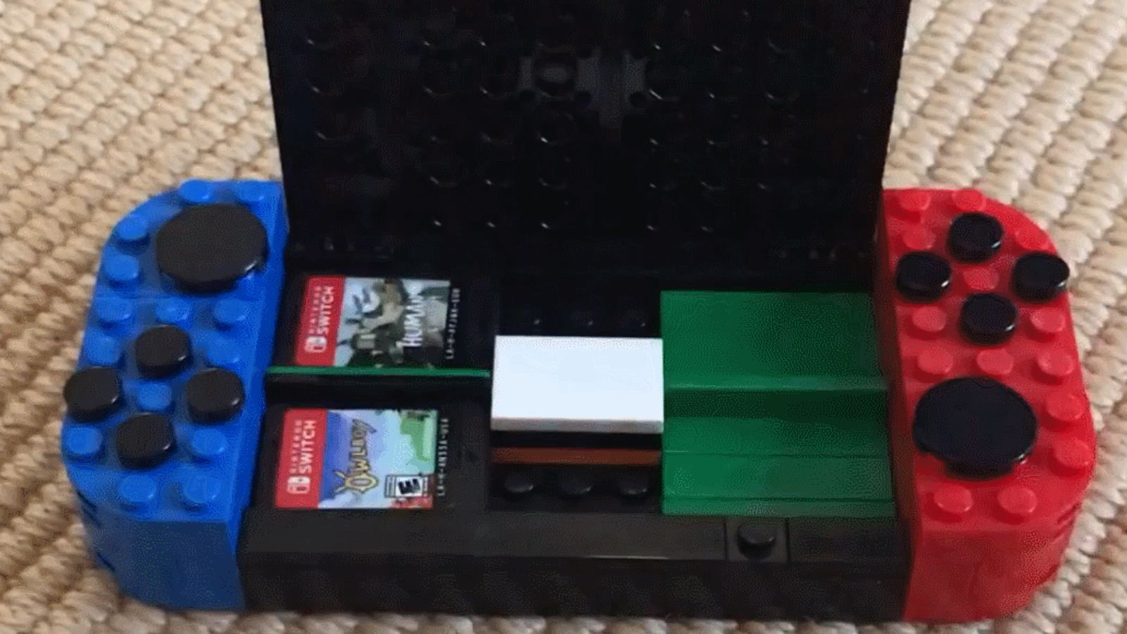 Nifty Moc Featured On Reddit Nintendo Switch Shaped Game Card Storage Case The Brick Show