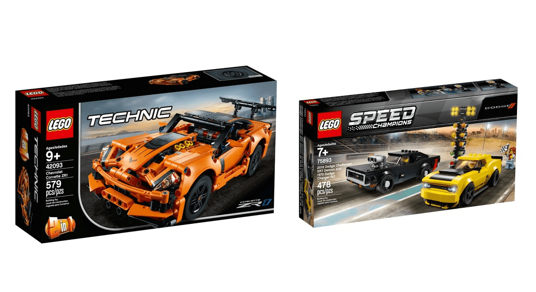 March 2019 LEGO VIP Double Points on Technic Chevrolet Corvette ZR1 (42093) and Speed Champions Dodge (75893)