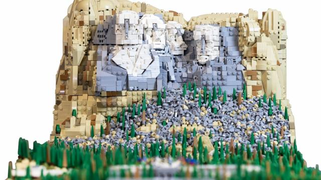 Expansive LEGO Mount Rushomre Build Featuring at BrickUniverse Event at Raleigh, NC