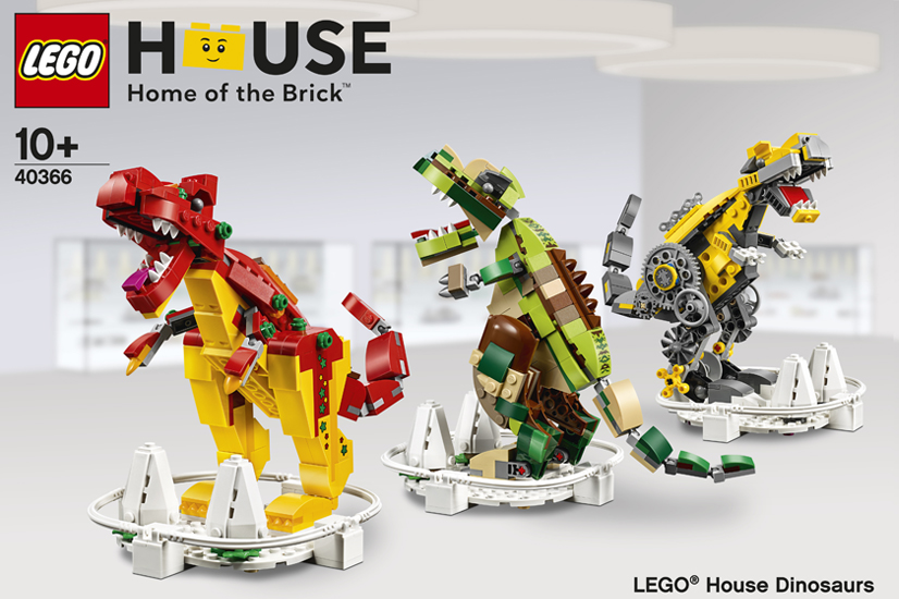 Lego House Billund Exclusive Lego House Dinosaurs 40366