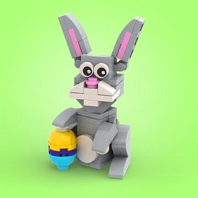 Build Your Own LEGO Easter Bunny with Free Building Instructions from Build Better Bricks, Here in Our Shop