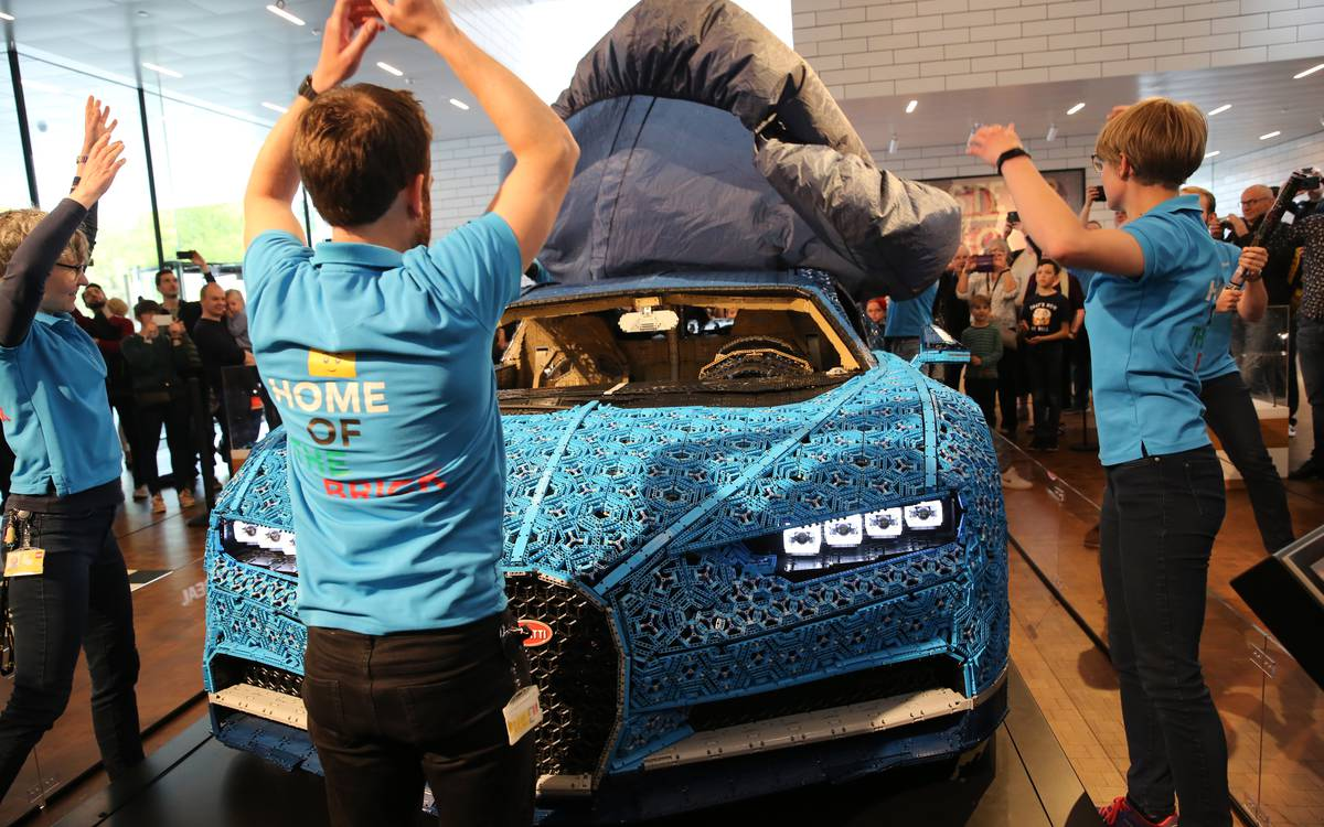 Life-Sized LEGO Technic Bugatti Chiron Ends World Tour at LEGO House