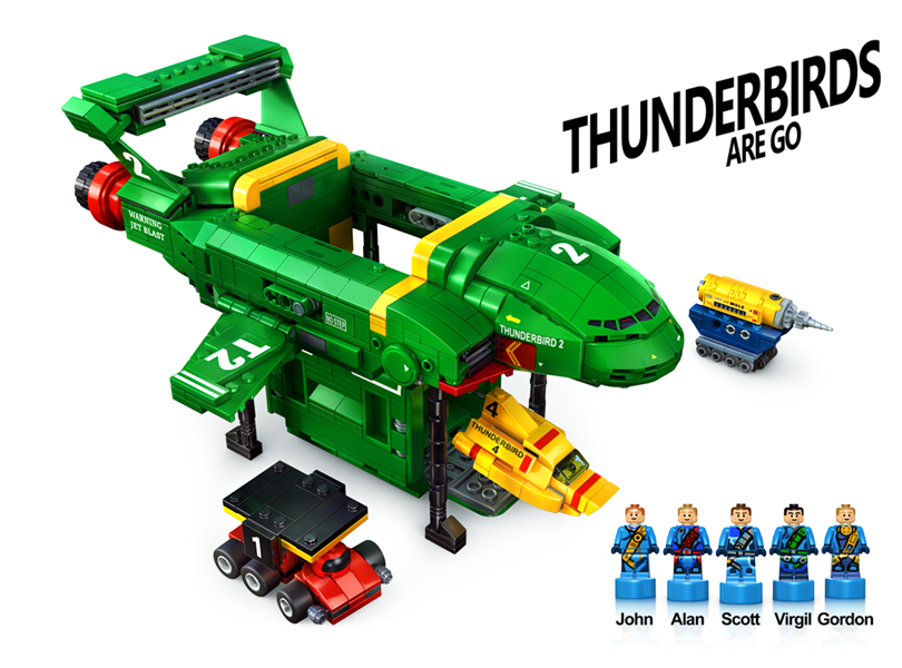 "LEGO Ideas Flintstones (21316) Creator Andrew Clark's Other Submission: ""Thunderbirds are Go"" Needs 2-K More Support, with 80+ Days Left"