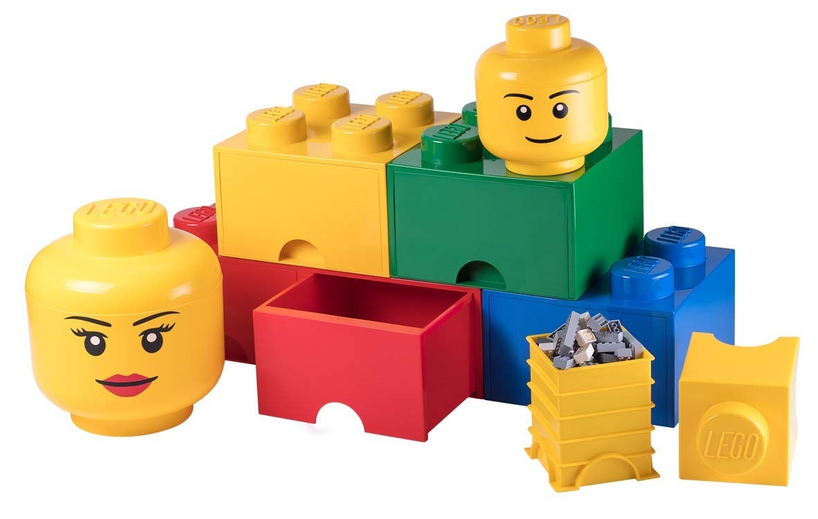 Another LEGO-Themed Accesory Line on Amazon: Minifigure-Head Containers