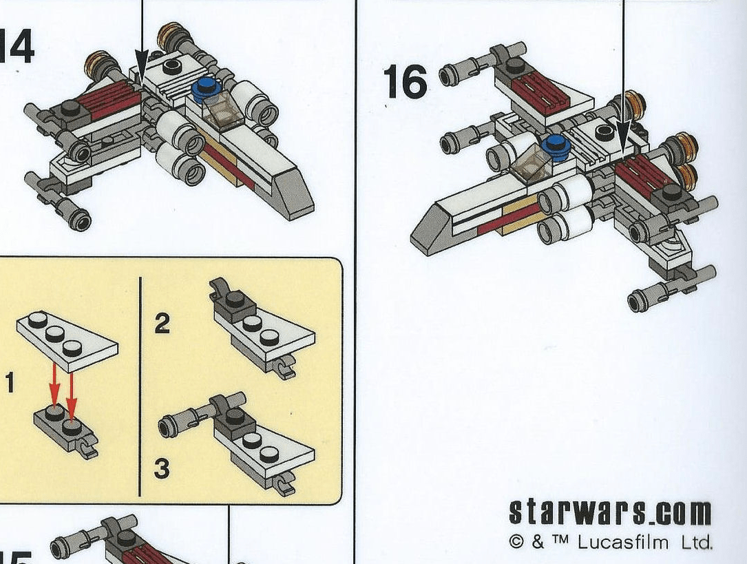 Building Instructions for LEGO Star Wars May the 4th Make & Take, Both Tantive IV and LEGO Australia's X-Wing