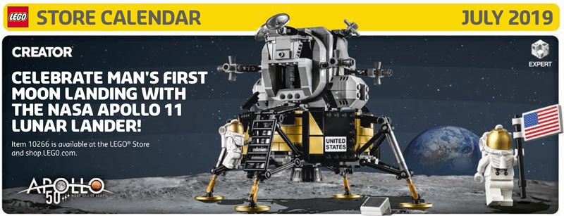 July 2019 LEGO Store Calendar Highlights and Promotions