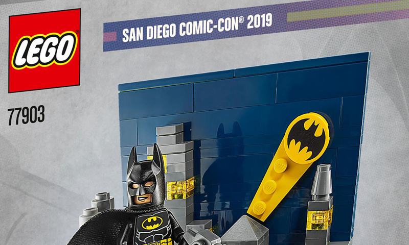 2nd LEGO SDCC 2019 Exclusive Set Revealed: The Dark Knight of Gotham City (77903)