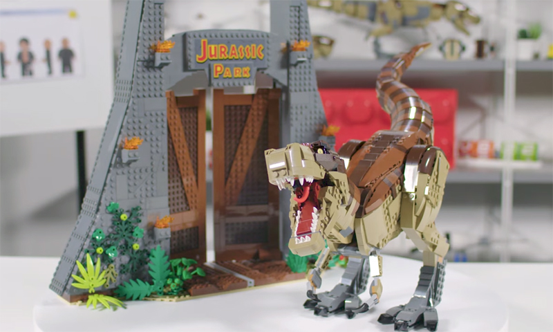 Check Out this LEGO Jurassic Park: T. rex Rampage Designer Video