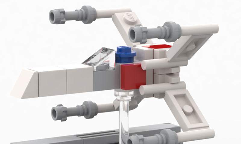 Build Your Own Custom Microscaled LEGO Star Wars X-Wing Trench Run