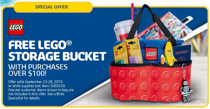 LEGO Store September 2019 Calendar