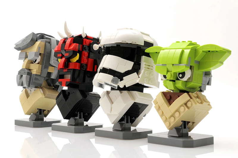 These Are the Custom LEGO Star Wars Character Busts You're Looking For