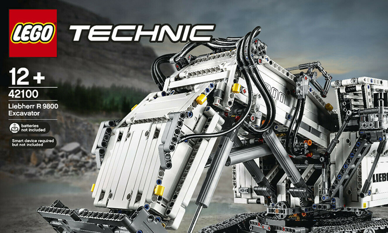 A Look at the LEGO Technic Liebherr R 9800 (42100) and LEGO Technic Control+ App