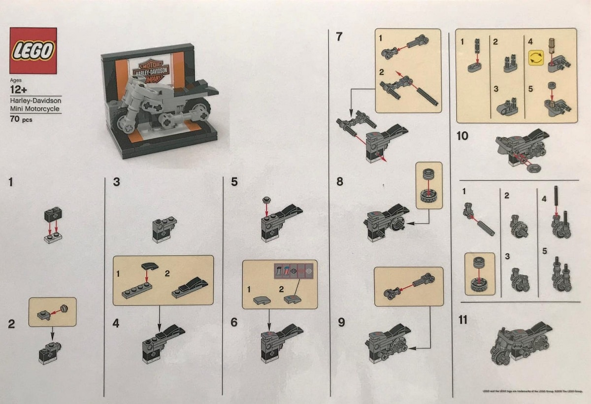 Check Out These LEGO Harley-Davidson Mini-Build Instructions