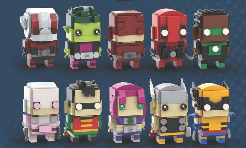 Build Your Own Collection of LEGO BrickHeadz Heroes and Villains With These Books