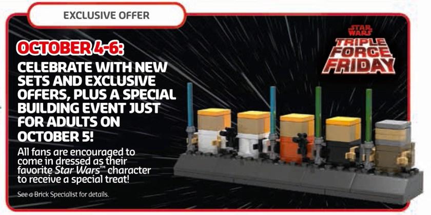 October 2019 LEGO Store Calendar