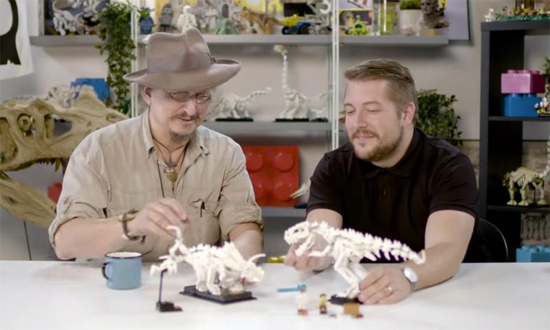 WATCH: LEGO Ideas Dinosaur Fossils (21320) Designer Video