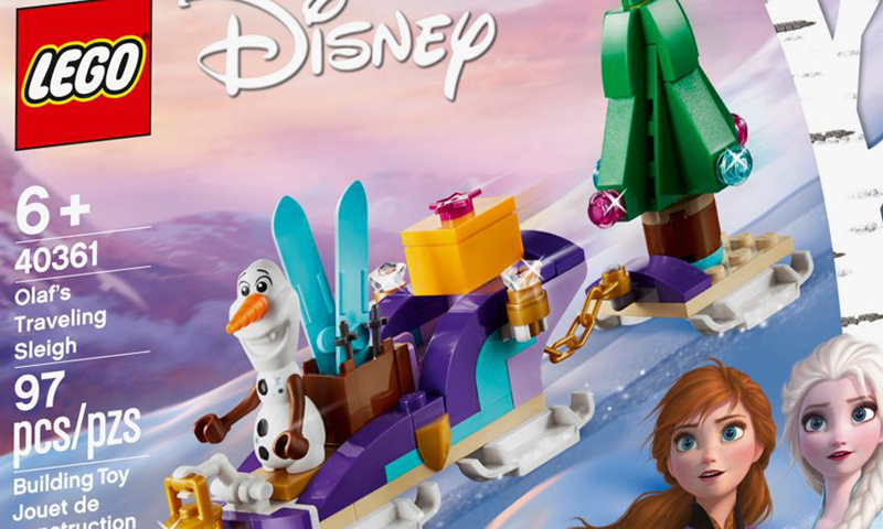 LEGO Disney Frozen 2 Olaf's Traveling Sleigh (40361) Gift-With-Purchase Set Revealed