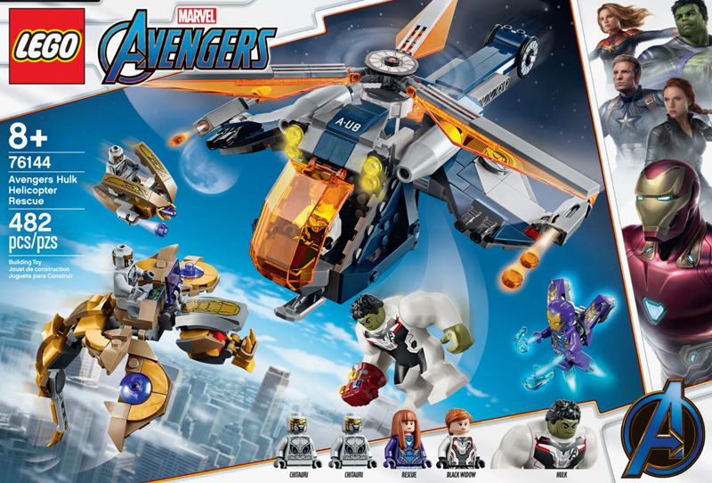 LEGO Marvel Avengers/' Helicopter /& Black Widow figure from set 76144 NEW